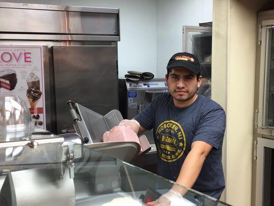 Oscar Tello, manager of Blimpie's/ColdStone Creamery