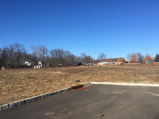 A developer wants to build two restaurants/retail buildings as well as a nursing facility on this plot of land on the busy corner of East Main Street and Marter Avenue in Moorestown.