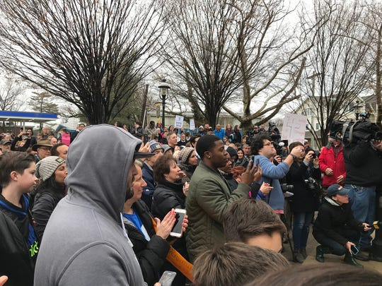 More than 500 participated in a vigil, march and rally