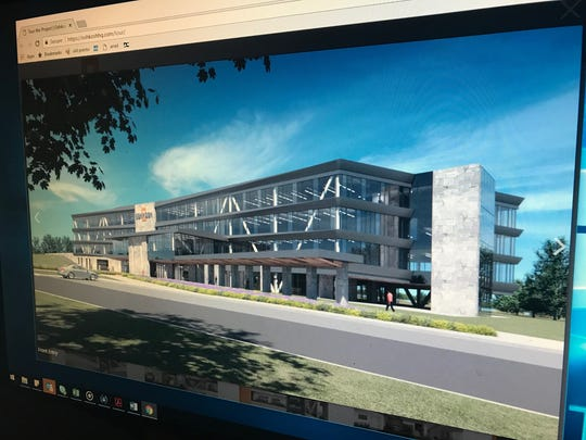 Oshkosh Corp. launched a website to showcase designs for its new headquarters, at the site of Lakeshore Municipal Golf Course.