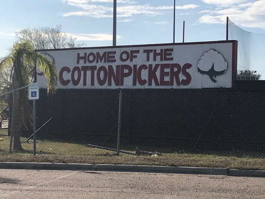 Robstown High School alumni and supporters took to social media when parts of the school's red and white color scheme was painted over in gray.