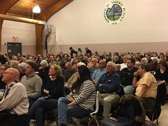 More than 300 residents packed a Morris Plains Planning Board meeting Feb. 5, 2018 to hear a proposal by a fragrance company to build off Tabor Road.