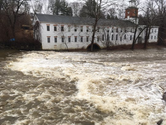 The Brandywine was running high and fast Sunday morning at Walker's Mill thanks to overnight rains. A flood advisory was put into effect for parts of northern Delaware.