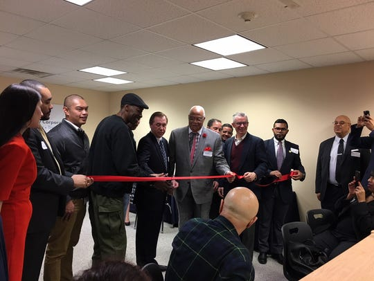 The ribbon is cut on the Middlesex County site of the