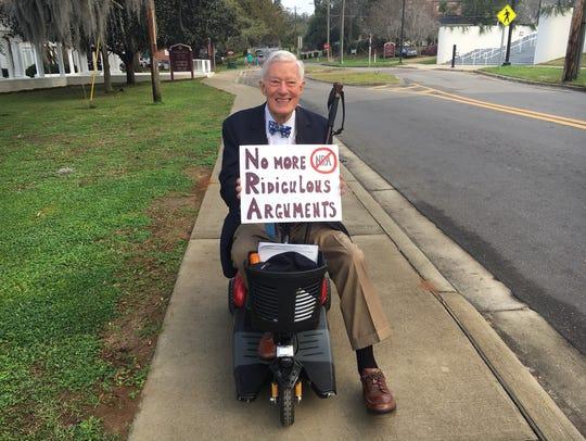 Former FSU President Sandy D'Alemberte makes his opinions