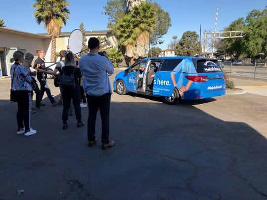 """The """"Helpful Honda"""" crew arrives at the Santa Paula"""