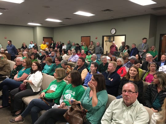 Residents, mostly in support of the Batey Farm purchase, showed up in full force at a Mayor and Aldermen meeting in Hendersonville last year.