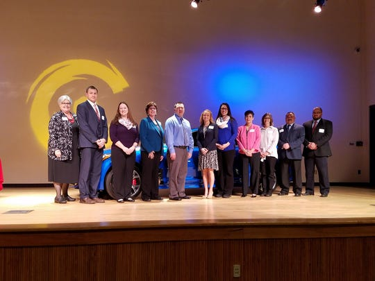 Thirteen Licking County teachers were honored Wednesday night with the annual You Made a Difference award.