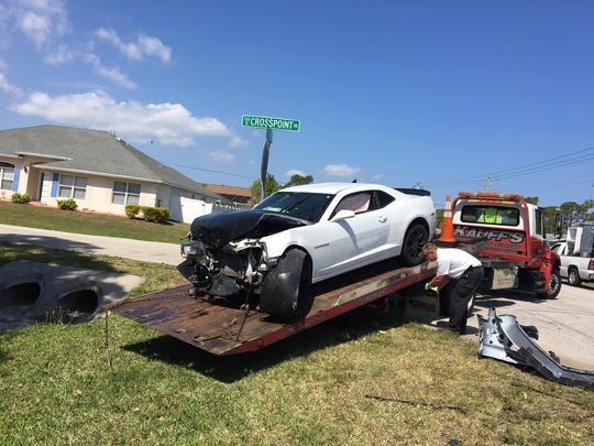 Two cars crashed in Port St. Lucie Friday after a drug deal gone bad, police said.
