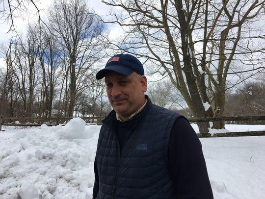 Harding Township Committeeman Tim Jones slept at a