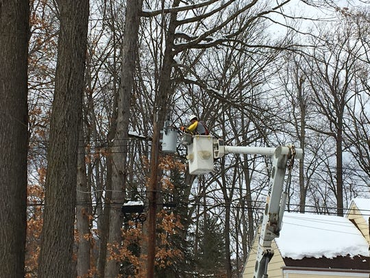 A lineman for Potomac Edison brought relief to residents