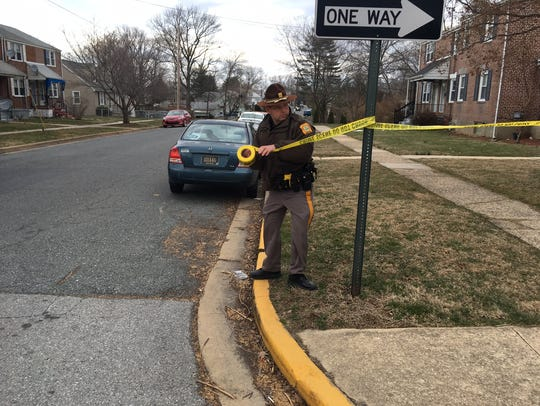 Police investigate on Baltimore Avenue in Elsmere on