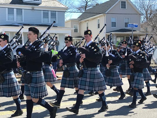 The 2018 South Amboy St. Patrick's Day parade wound
