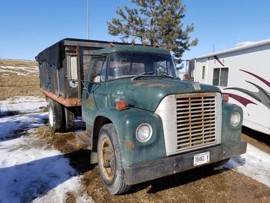 A 1970 dump truck is among items available for bid