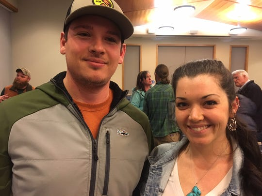 Erik Julian and Kate Loughran of Asheville, were among