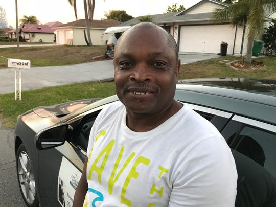 Everald Broomfield, 54, evacuated his Port St. Lucie home