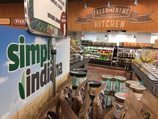 Displays in the Fresh Thyme store in Castleton.