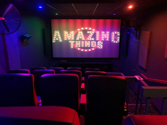The 5D movie theater at Amazing Things shows 3D movies