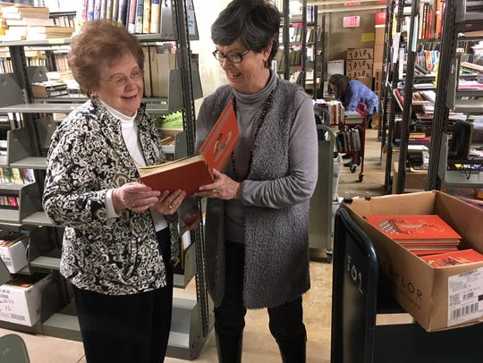 Sorters and FOL members Jean Idell and Suzanne Freeman