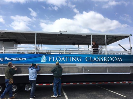 The Floating Classroom, a 40-foot aluminum boat built