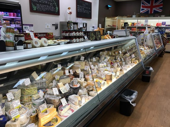 The specialty cheese case at Gary's Wine & Marketplace
