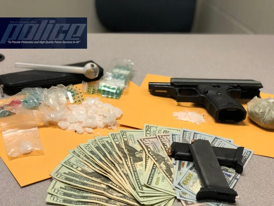 Here are some items police seized after arresting a