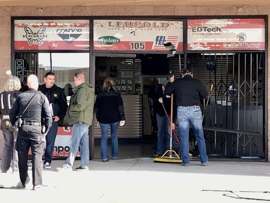 Sparks gun shop rammed