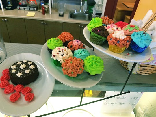 The deli case at NicMarc Diner was full of  house-made baked goods, including beautifully decorated cupcakes and cookies.