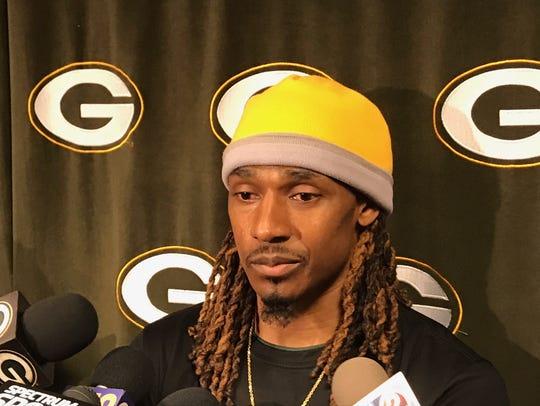Packers cornerback Tramon Williams fields questions
