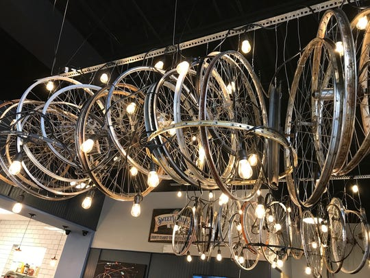 D'Allesandro's has an indirect biking theme, thanks to owners, Nick and Ben D'Allesandro's passion for cycling.