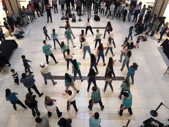 The Center for Safety & Change hosted a Flash Mob in