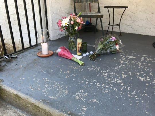 Candles and flowers have been left on the doorstep of Gabriella Maria Boyd's home on Chestnut Avenue in Mamaroneck. The 2-year-old girl died after an incident at her home on April 28, 2018.