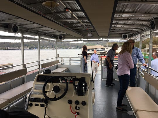 Aboard the Lake Hopatcong Foundation's new Floating