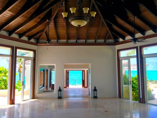 Interior at Prince's Turtle Tail estate on Turks and