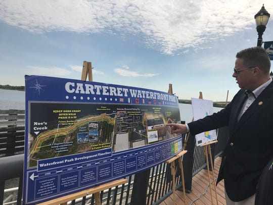 Carteret Mayor Daniel J. Reiman discusses plans along