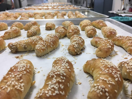 Walnut crescents for the  Armenian Food Festival.