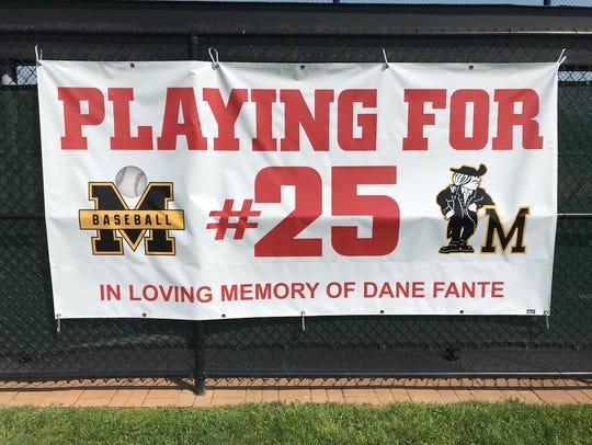 The Moorestown baseball team is honoring 2016 graduate