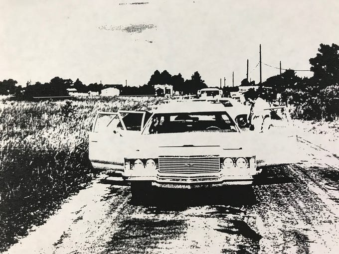 Russell Foote was found dead in 1974 inside his white