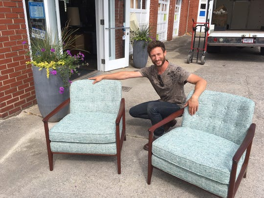 """""""These were probably destined for the landfill,"""" says Joshua Ivester of a set of chairs that he refurbished."""