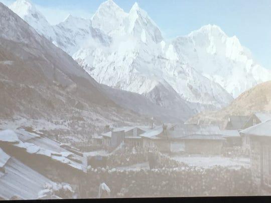 A photo of a village adventurer Matt Brennan encountered in his attempt to climb Mount Everest.
