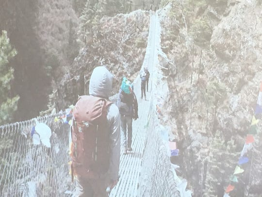Adventurer Matt Brennan shared this picture of one of many bridges he encountered his Mount Everest climb.