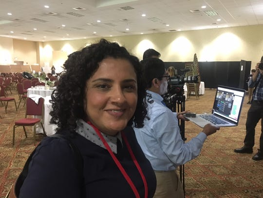 Magaly Urdiales, co-founder of JM Pro TV in Asheville,
