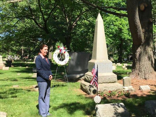 Eleanor Molloy, president of Elmwood Cemetery in North Brunswick, talks about World War I veteran Joyce Kilmer.