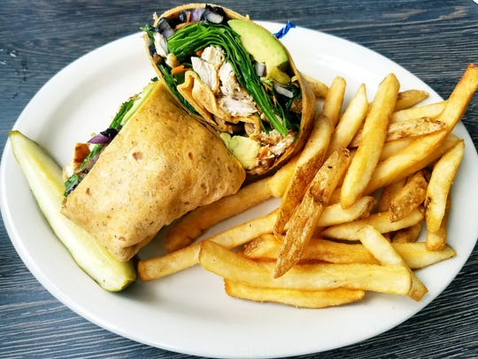 This Metro Diner avocado veggie wrap with grilled chicken