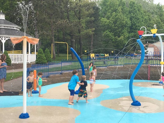 The spray park at Camp Eastman in Irondequoit opened
