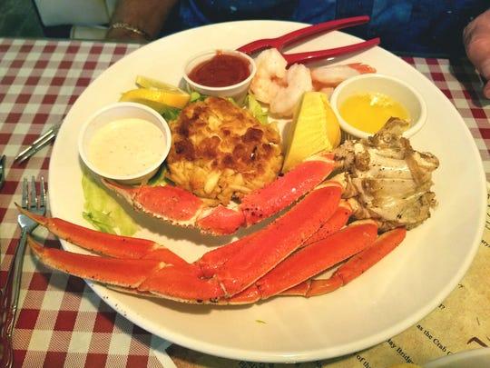 Quiet Crab's Seafood Trio had one cluster of Alaskan