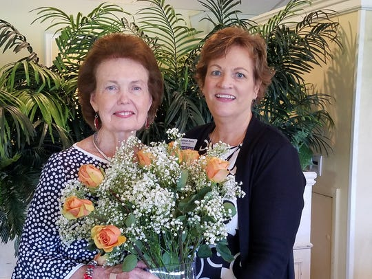 Betty Mulligan and Kathleen Stacey, RSVP Director