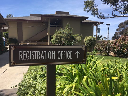 After city of Ventura officials shut down the lobby of the Pierpont Inn, the owners moved it to a guest room. Recently, they installed a more permanent-looking sign to direct guests.