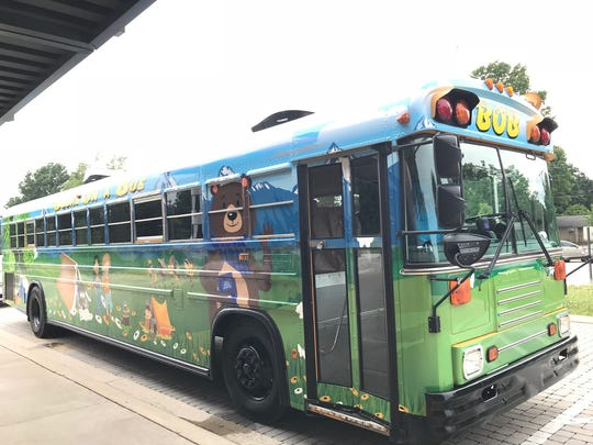 Murfreesboro City Schools refurbished an 86-passenger bus into a mobile library.