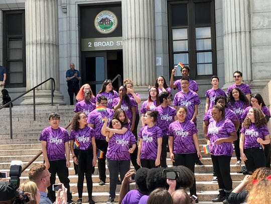Members of the Thomas Jefferson Arts Academy Acapella